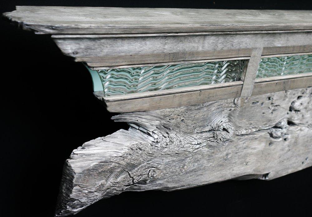 """Whale Skin"" mantel/headboard/shelf eco-sculpture"