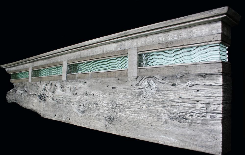 """Whale Skin"" headboard/mental/shelf wall eco-sculpture"