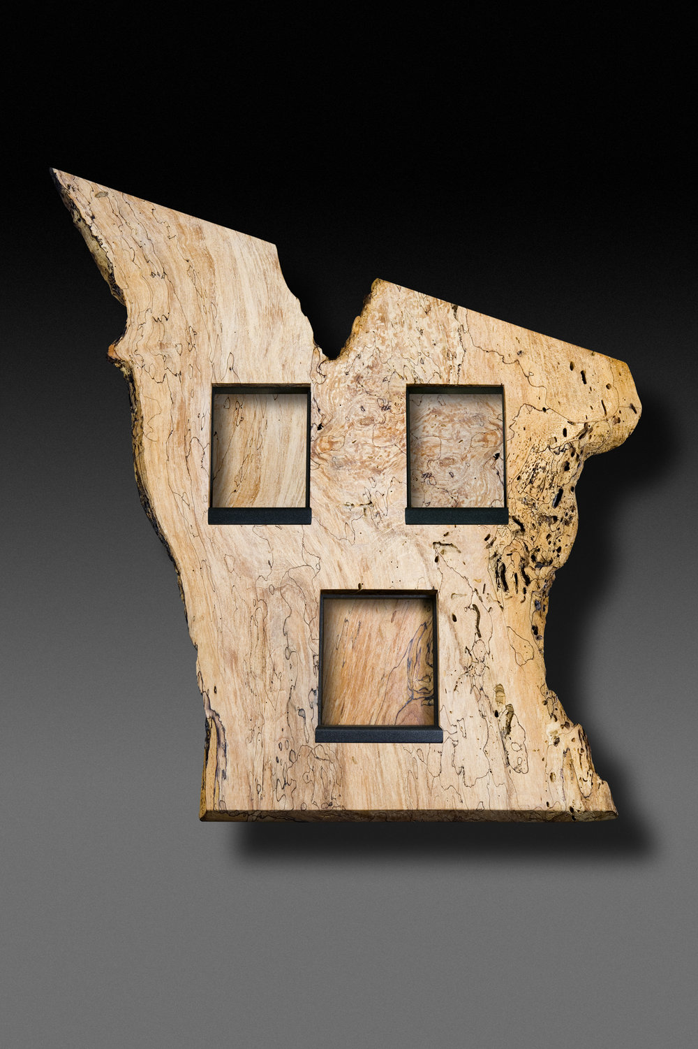 Spalted Maple 4 foot high wall eco-sculpture