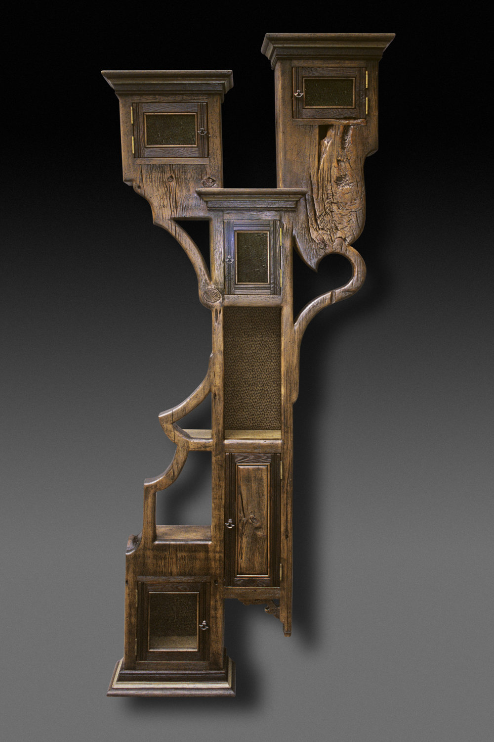"""""""Cabinet Tree"""" 7 foot wall eco-sculpture"""