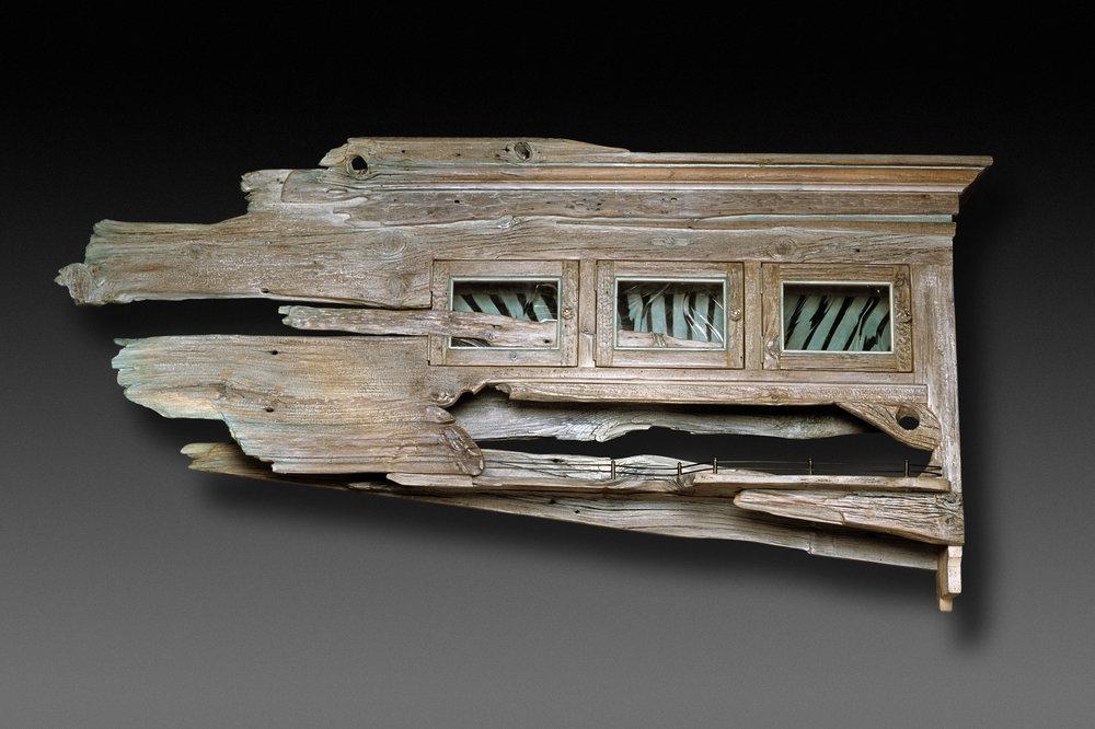 """Driftwood I"" wall eco-sculpture"