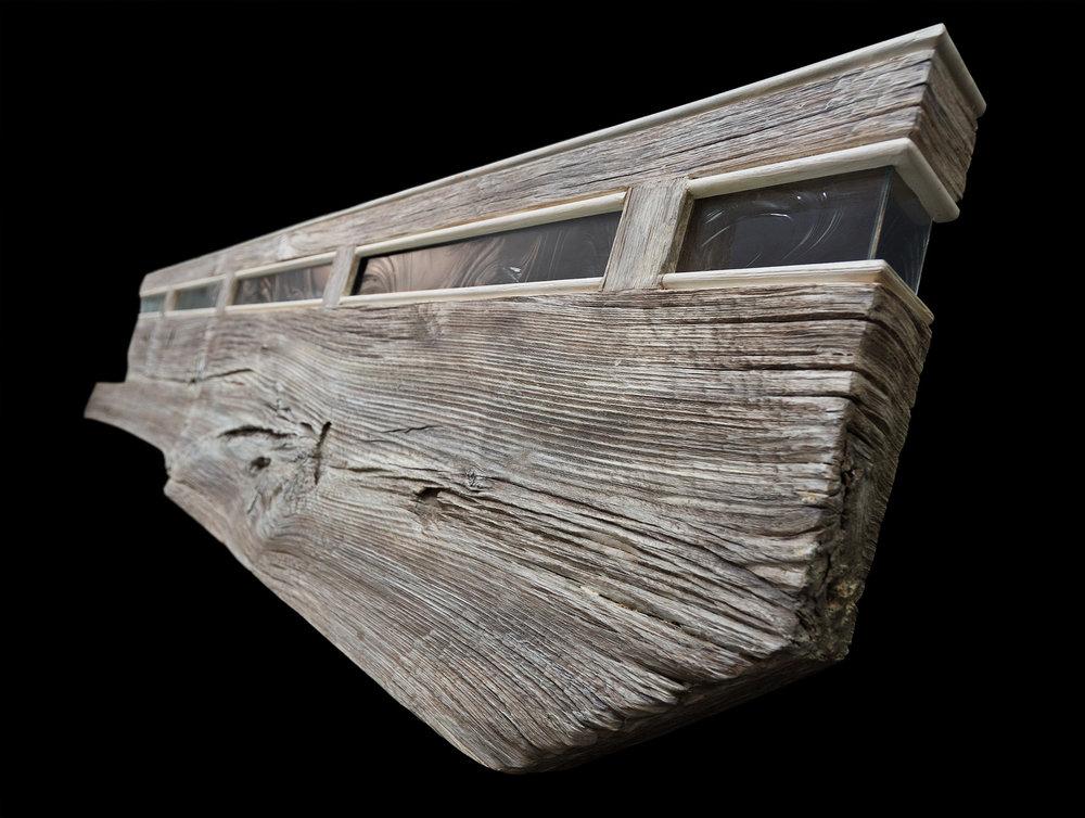 7 ft headboard/mantel/shelf wall eco sculpture