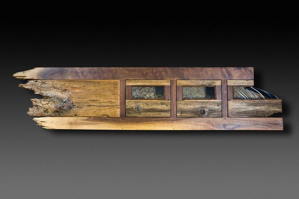 """Mark & Minda"" headboard/mantel/shelf eco-sculpture"