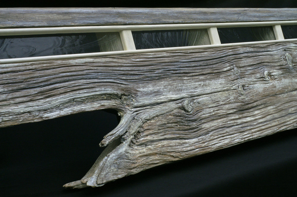 """Yacht I"" 7 ft headboard/mantel/shelf eco-sculpture"