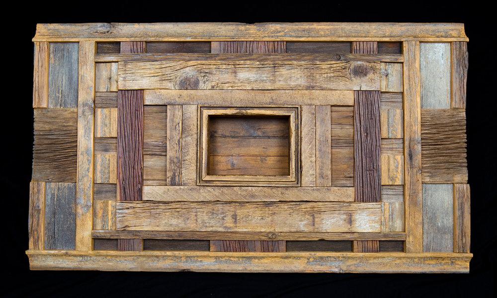 """Quilt II"" 5 ft wall eco-sculpture"