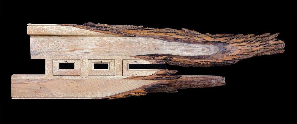 """""""Bark"""" 5 ft wall eco-sculpture"""