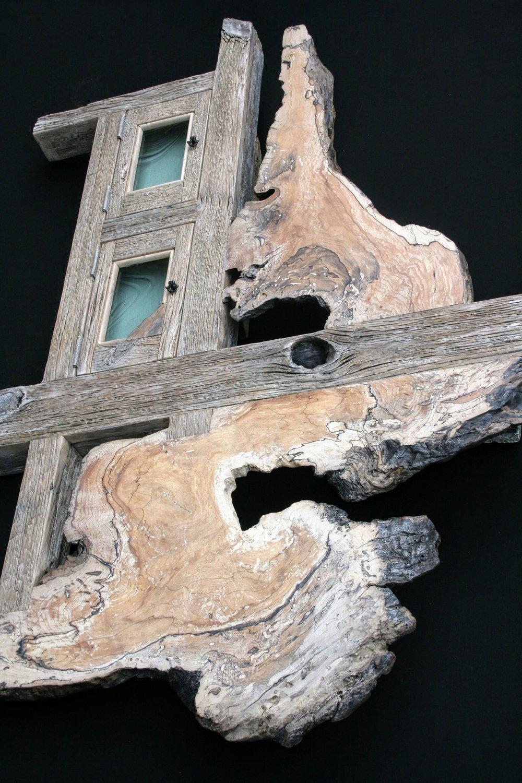 """""""Treasure Map"""" 4 ft wall eco-sculpture"""