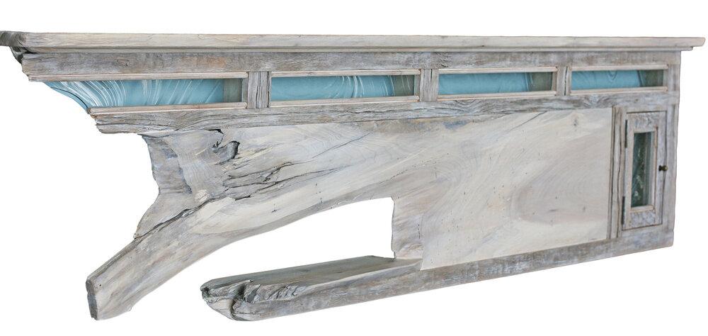 Headboard/ Shelf/ Mantel 8ft wall eco sculpture