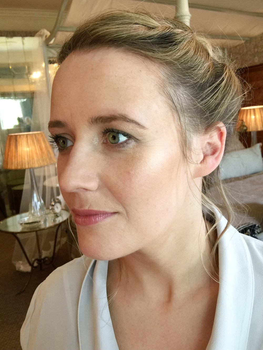 Bridesmaid makeup look wedding babington house