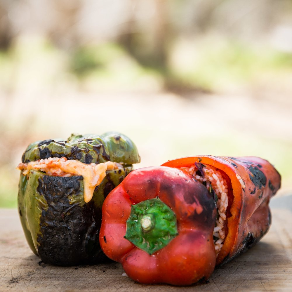 Charred Stuffed Peppers -
