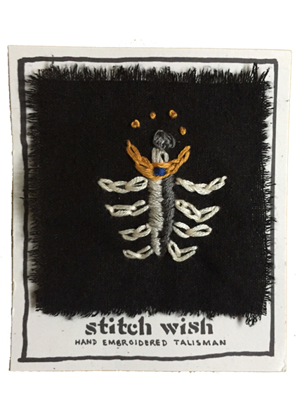 guardian hand embroidered talisman stitch wish