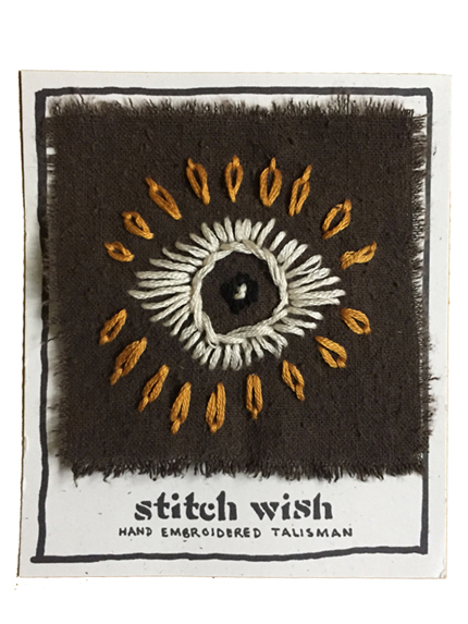 visionary hand embroidered talisman stitch wish
