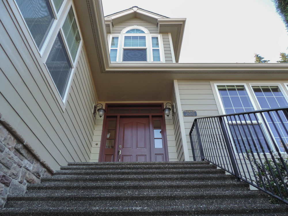 Steps leading up to the home of some of our favorite customers. One of our proudest exterior paint jobs.