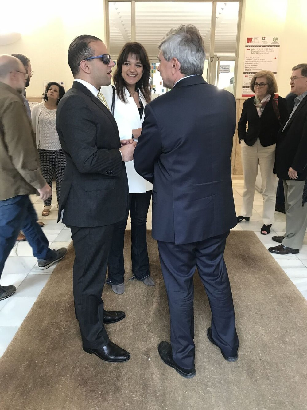Meeting with President of the University of León, Juan Francisco García Marín
