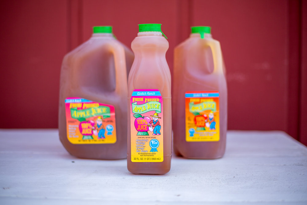 Fresh Pressed Apple Juice - You can get this year round in a variety of sizes.Apples all sourced from our orchards!