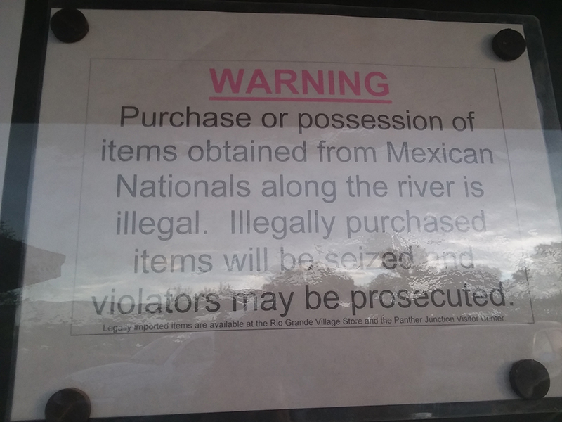 River trips on an international river provoke unusual warnings.