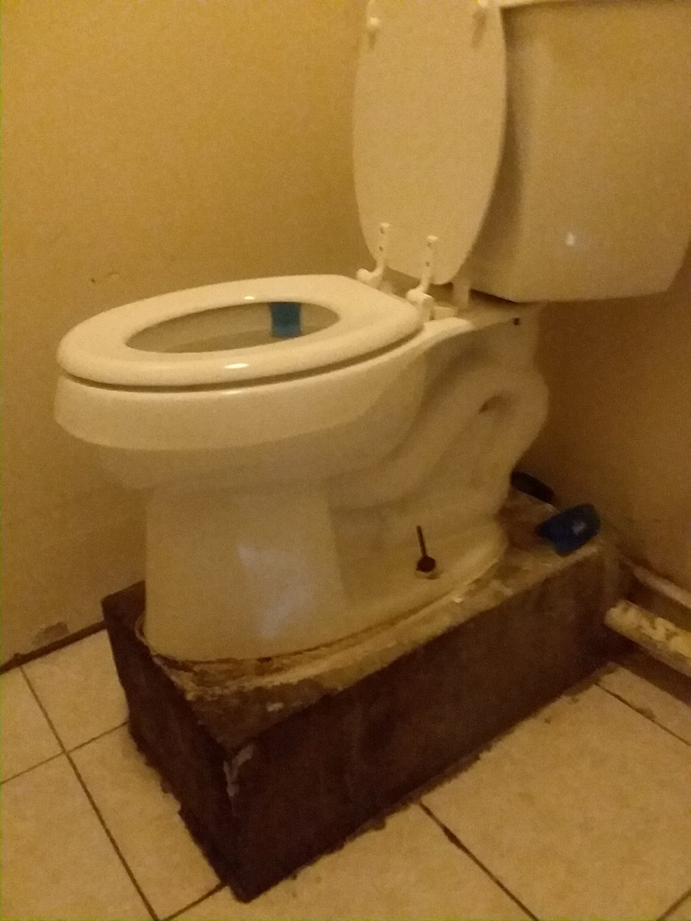 Had to take a pic of the janky toilet in the convenience store.