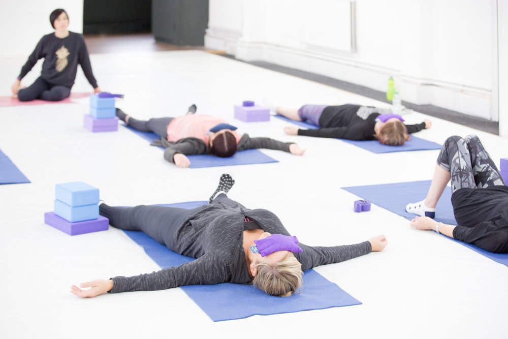 Slow doesn't always mean easy but we take our time getting there. Seated poses are always included to work on improving flexibility. The class always ends with a guided relaxation (yoga nidra) to fully unwind before your weekend.