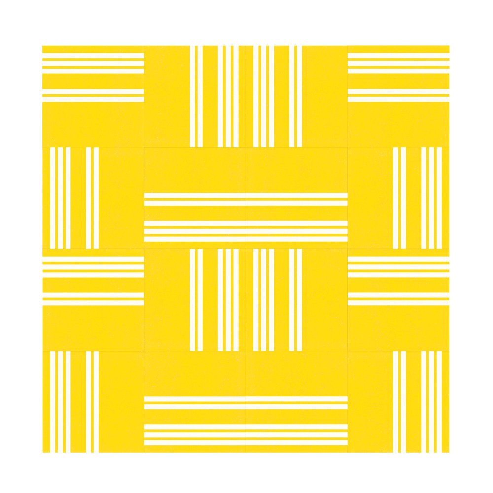 Lemon Yellow With White Lines