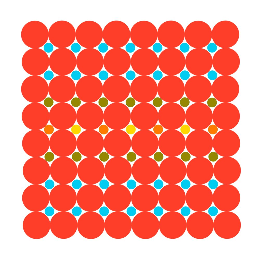 Dot Structure 1 - Cherry Red