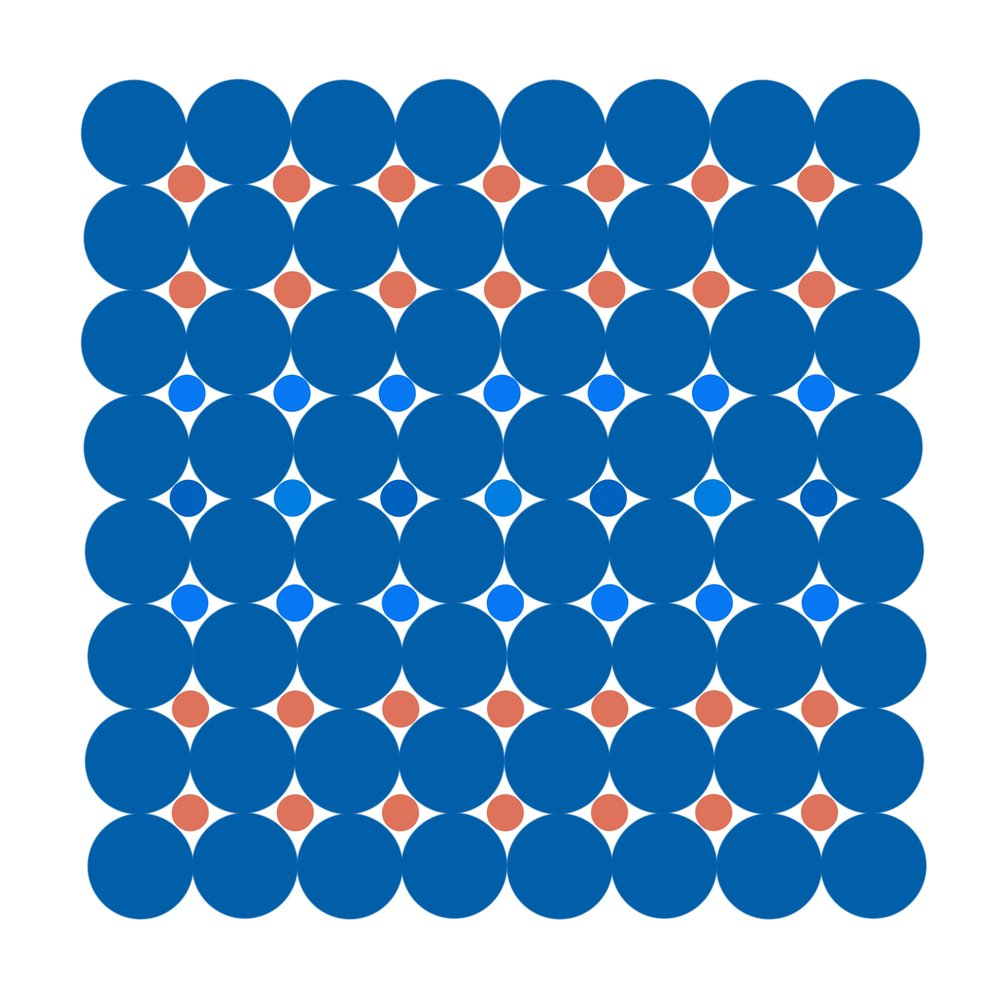 Dot Structure 8 - Clear Blue