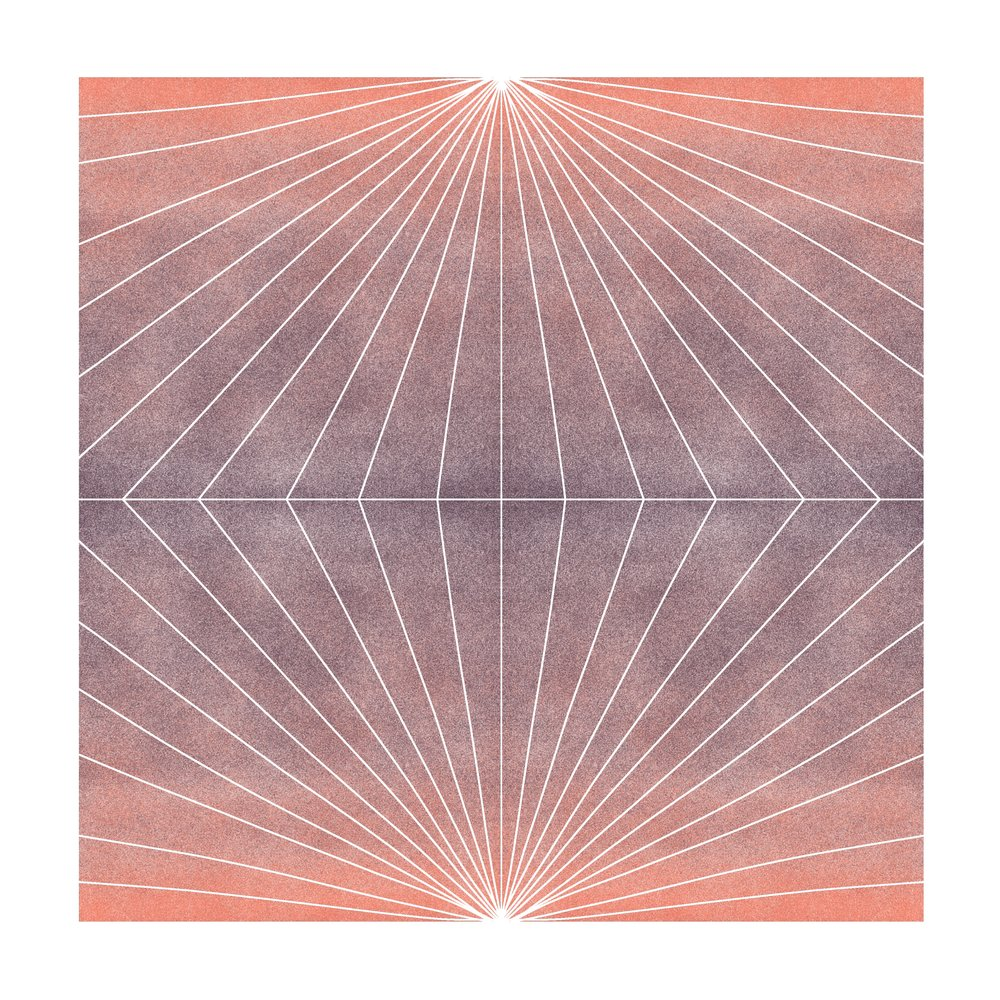 Color Space 13: Peach & Periwinkle