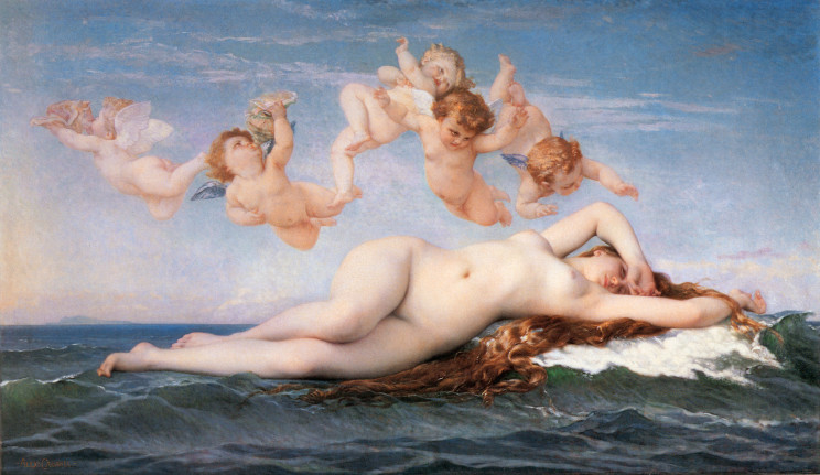 Alexandre Cabanel (French, 1823-1889) The Birth of Venus (1863) Oil on canvas. 51 by 89 in. Metropolitan Museum of Art, New York.
