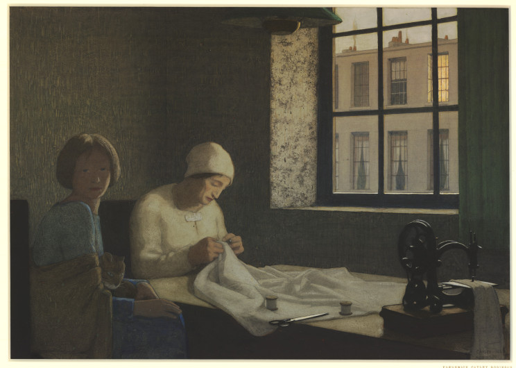 Federick Cayley Robinson (British, 1862-1927) The Old Nurse (1926) Oil on canvas. British Museum, London.