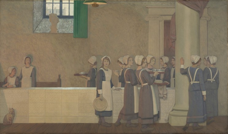 Federick Cayley Robinson (British, 1862-1927) Acts of Mercy, Detail (c. 1915) Oil on canvas. Wellcome Collection, London.