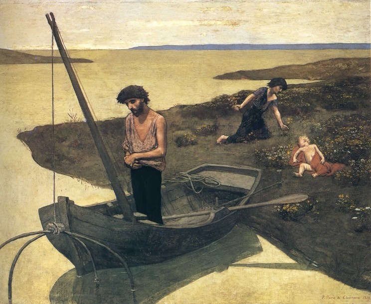 Pierre Puvis de Chavannes (French, 1824-1898) The Poor Fisherman (1881) Oil on canvas 155 by 192.5 cm. Musée d'Orsay, Paris
