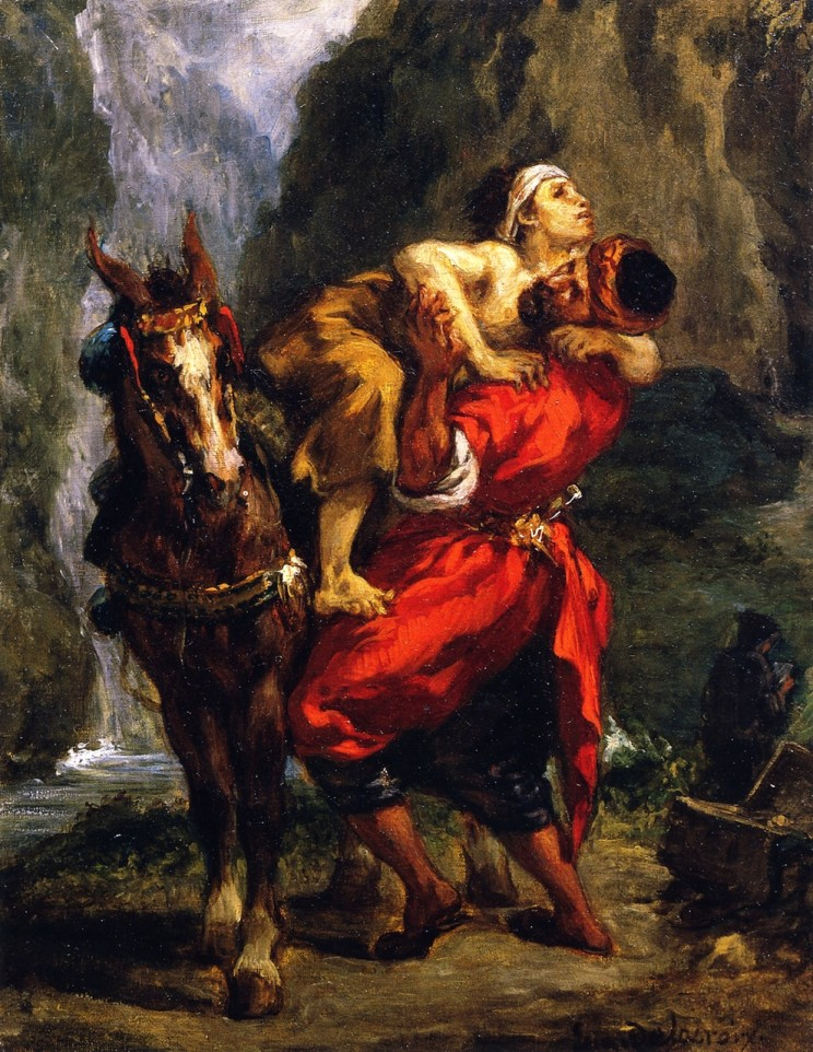 Eugène Delacroix (French, 1798-1863) The Good Samaritan (c. 1848) Oil on canvas. Private Collection.