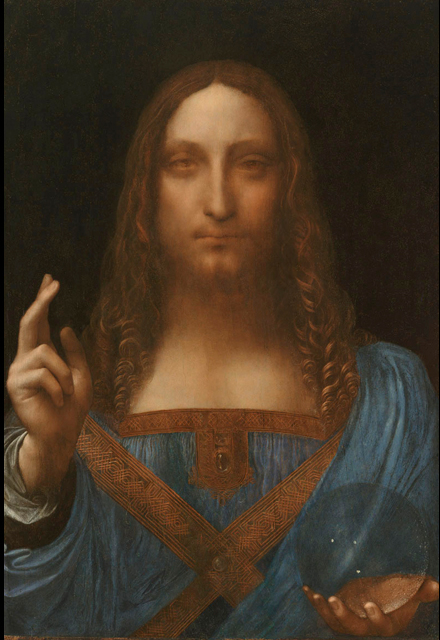 Leonardo da Vinci (1452-1519) Salvator Mundi (c. 1500) Oil on walnut panel. Private collection.