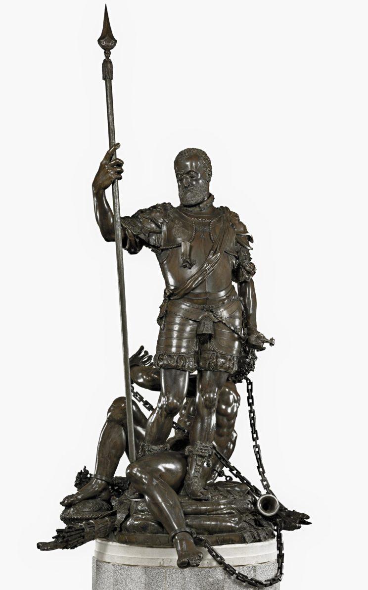 Pompeo Leoni (Milanese, 1533-1608) Emperor Charles V & the Fury (1549) Bronze. 251 x 143 cm. Museo Nacional del Prado, Madrid.