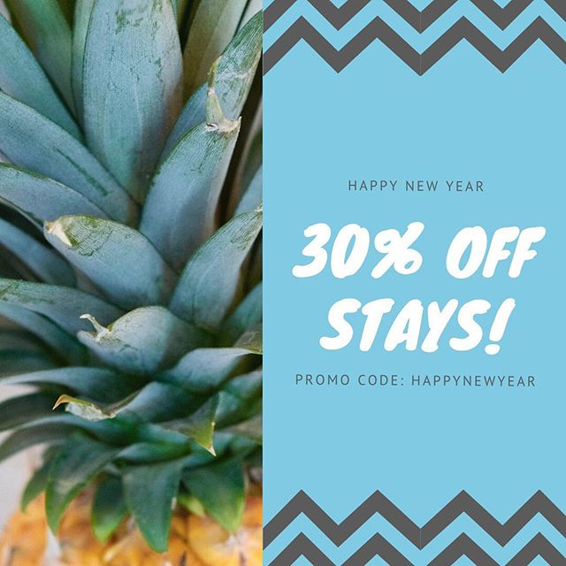 Because it's a brand new year and we love any excuse to spoil you... get 30% off all stays of 2 nights or more, taken before the end of April*! Use promo code HAPPYNEWYEAR on our website to receive the discount. Stays must be booked before the end of January! *excludes Easter stays