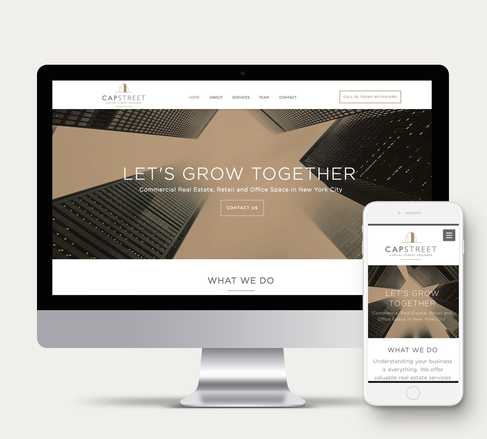 A website design project for Capital Street Advisors