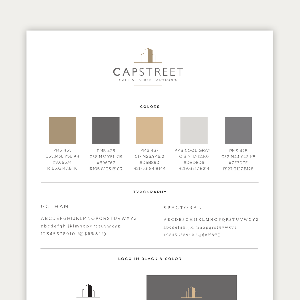 A style guide for Capital Street Advisors