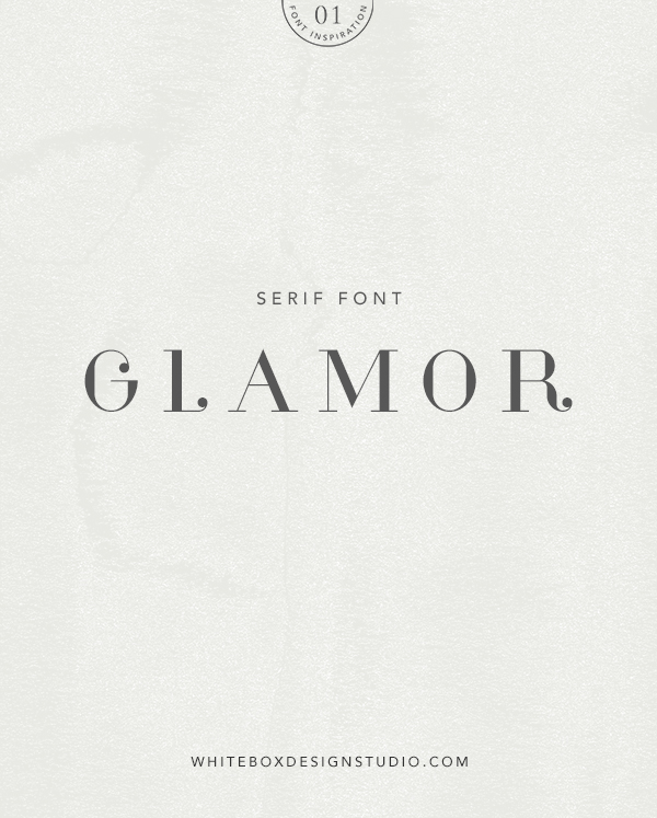 Wednesday inspiration: font & typography | No1-Glamor font posted by White Box Design Studio