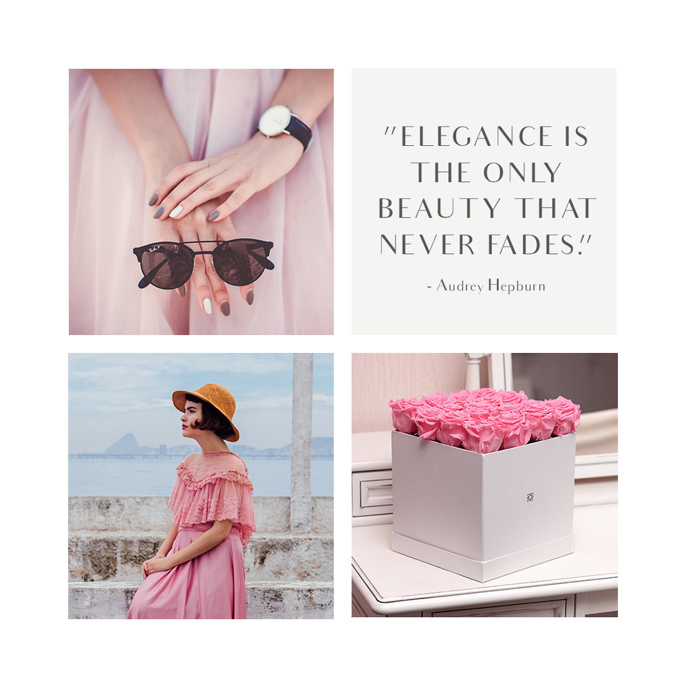 An elegant mood board
