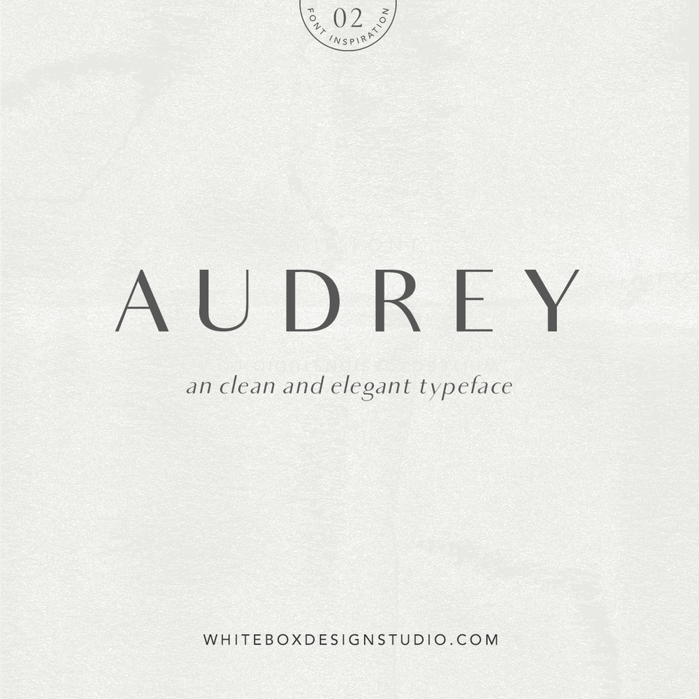 Wednesday inspiration: font & typography | No2-Audrey font posted by White Box Design Studio