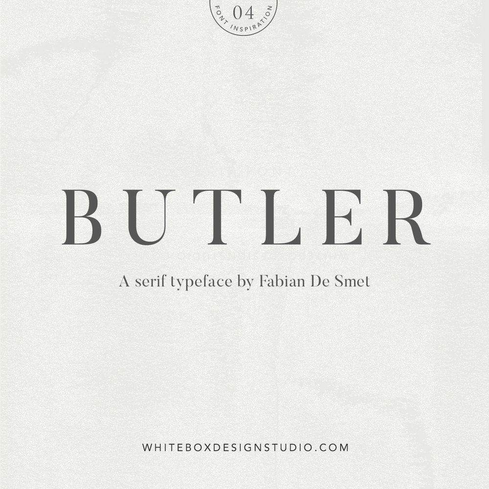 Wednesday inspiration: font & typography | No4-Butler typeface posted by White Box Design Studio