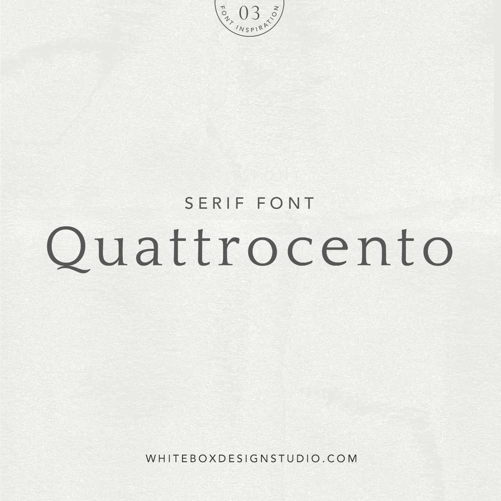 Wednesday inspiration: font & typography | No3-Quattrocento typeface posted by White Box Design Studio