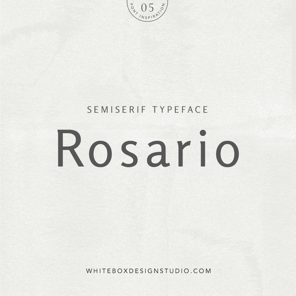 Wednesday inspiration: font & typography | No.5-Rosario typeface posted by White Box Design Studio