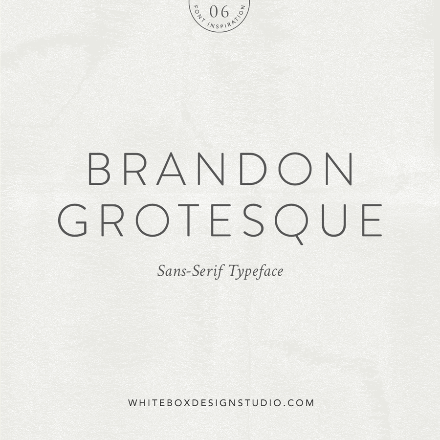 Wednesday inspiration: font & typography | No.6-Brandon Grotesque typeface posted on White Box Design Studio