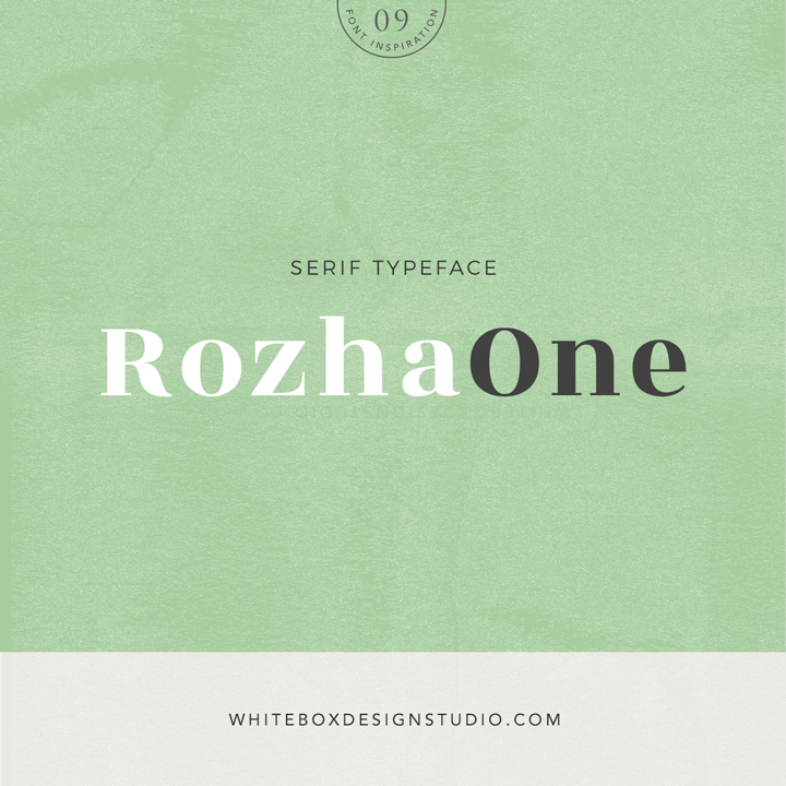 Wednesday inspiration: font & typography | No.9-Rozha One posted on White Box Design Studio