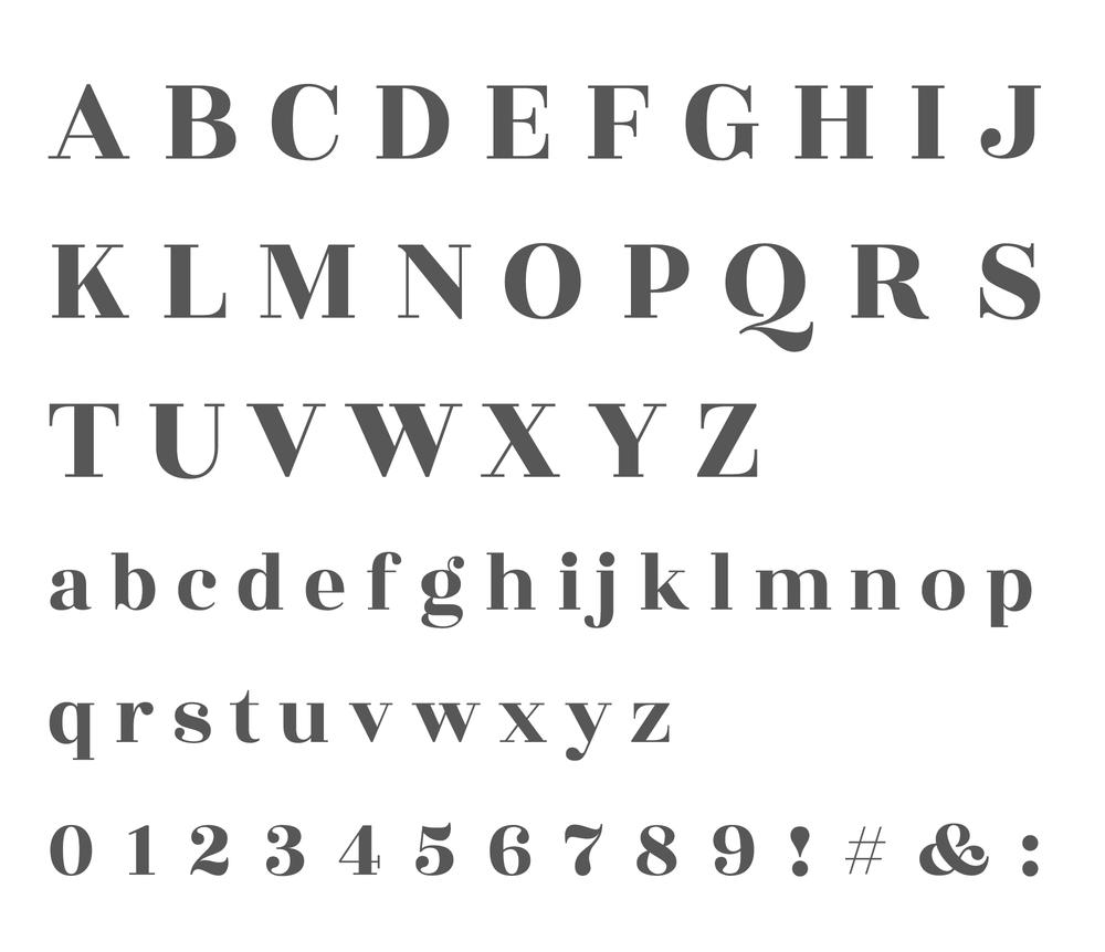 Wednesday inspiration: font & typography | No.9-Rozha One Alphabet posted on White Box Design Studio
