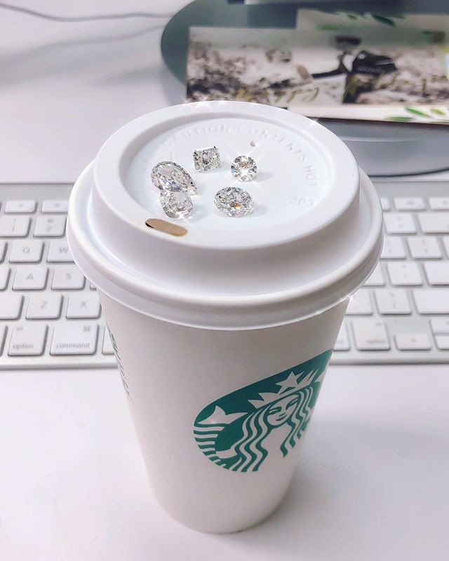 When it's 30 degrees out 🥶 but all you want is some iced coffee🤣 🤷🏻‍♂️ ✨💎✨💎✨ • • • #Monday #Ice #Diamonds #Beauty #Design #Style #Instarings #GIA #Diamondring #Bridal #She_saidyes #Thecaratclub #Theknotrings #Gemhuntrings #Vibesjewelery #Finejewelry #Elegance #Privatejeweler #Wholesale #Highend #Luxury #Love #Picoftheday #Fire #Bling #Brilliance #NYC #ASDgems