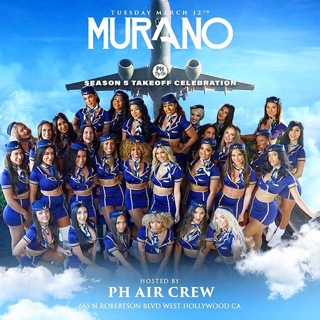 👩✈️PH Airlines joining us Tonight 💎🛩 Let's Party 👯♀️🎉 #BigVibes #MuranoTuesdays 🎭 For #Guestlist 🖊📜 & #BottleService 🥂 DM us 📥