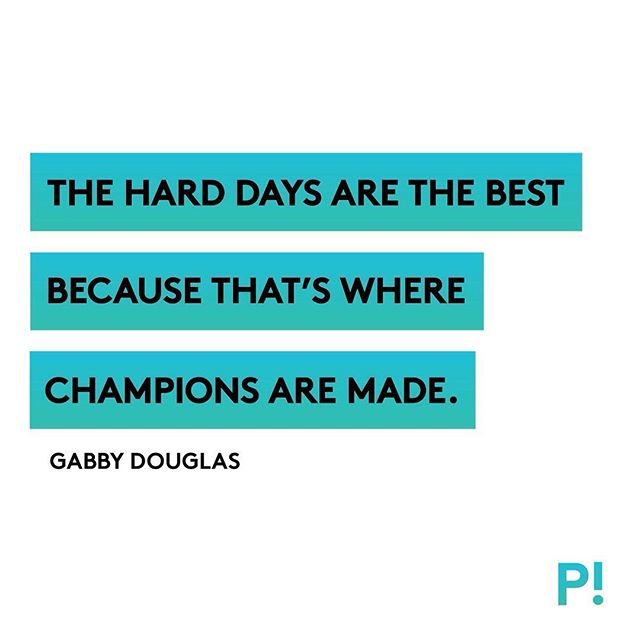 Damn right. Push through, keep going, and remember what drives you. You're a champion and you know it. #cantstopwontstop #trainlikeachamp