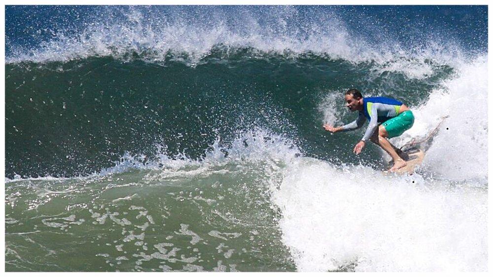 Local Surfer Teddy Kotz