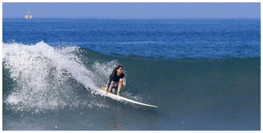 Local surfer Ashley Chakeris